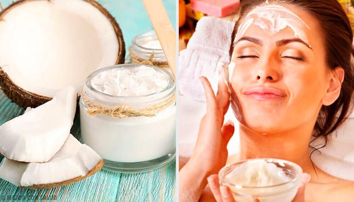 Maschera all'olio di cocco e bicarbonato di latte
