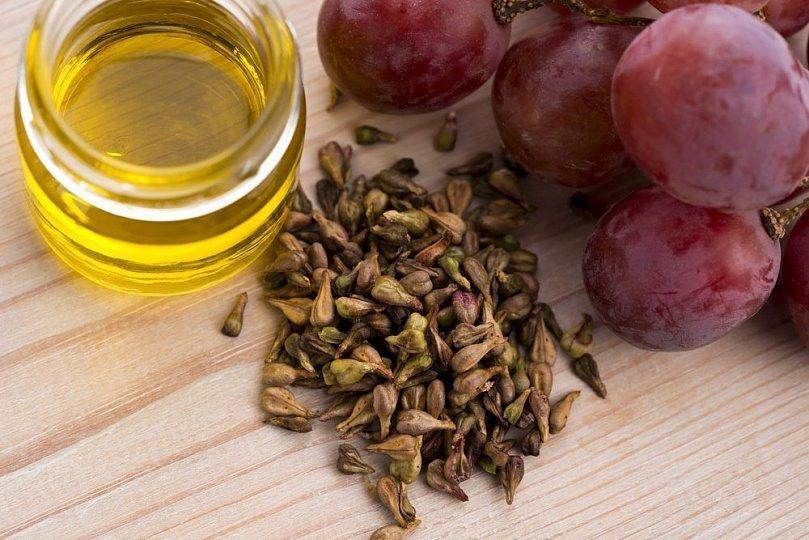 Maschera antirughe all'olio di semi d'uva