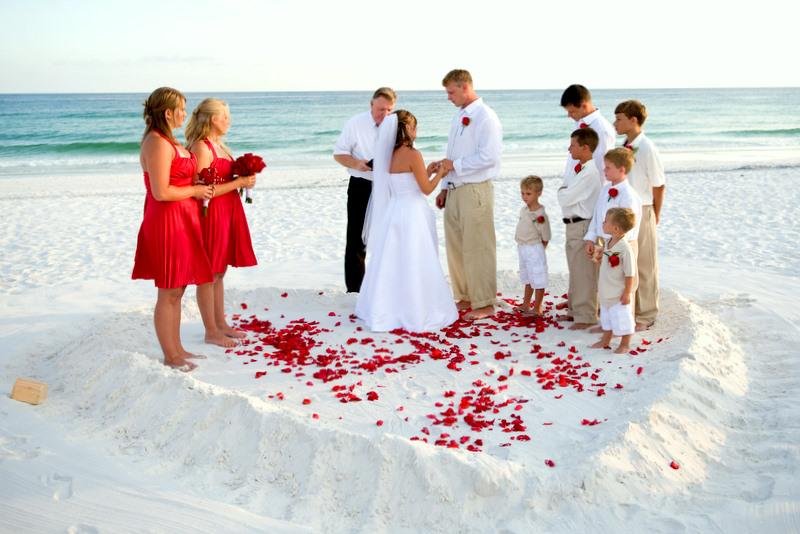 Matrimonio in giardino, in piscina e .. in spiaggia