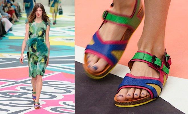 Welcome to the future: il sandaletto fluo con tinta abbinata