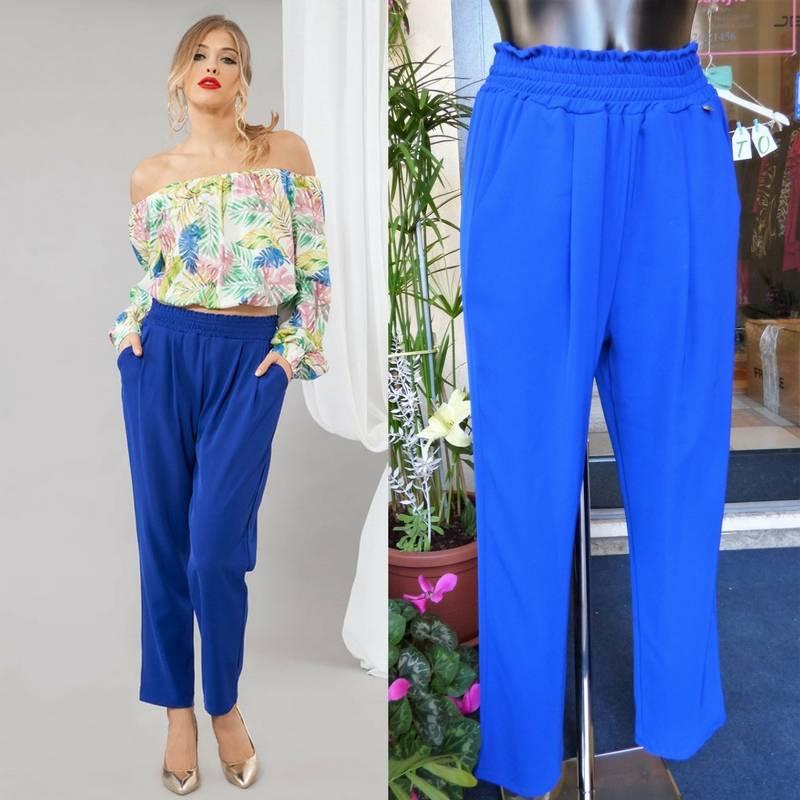 Pantalone blu elettrico