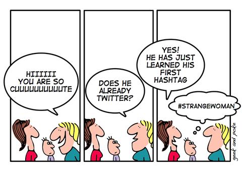 Hashtag su facebook, divertenti con parsimonia