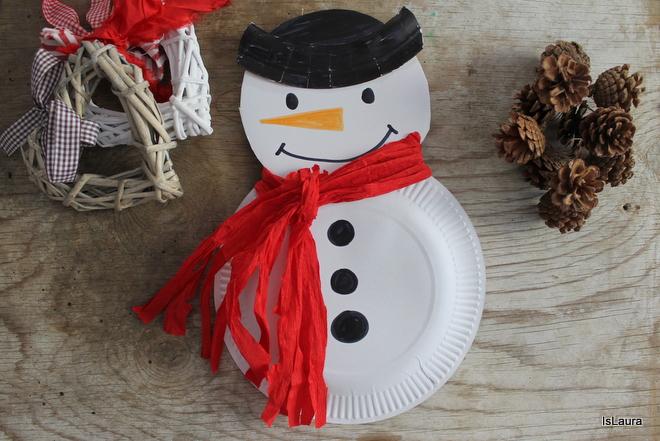 Come fare un pupazzo di neve con materiali da riciclo