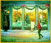 Decorazioni natalizie sulle finestre
