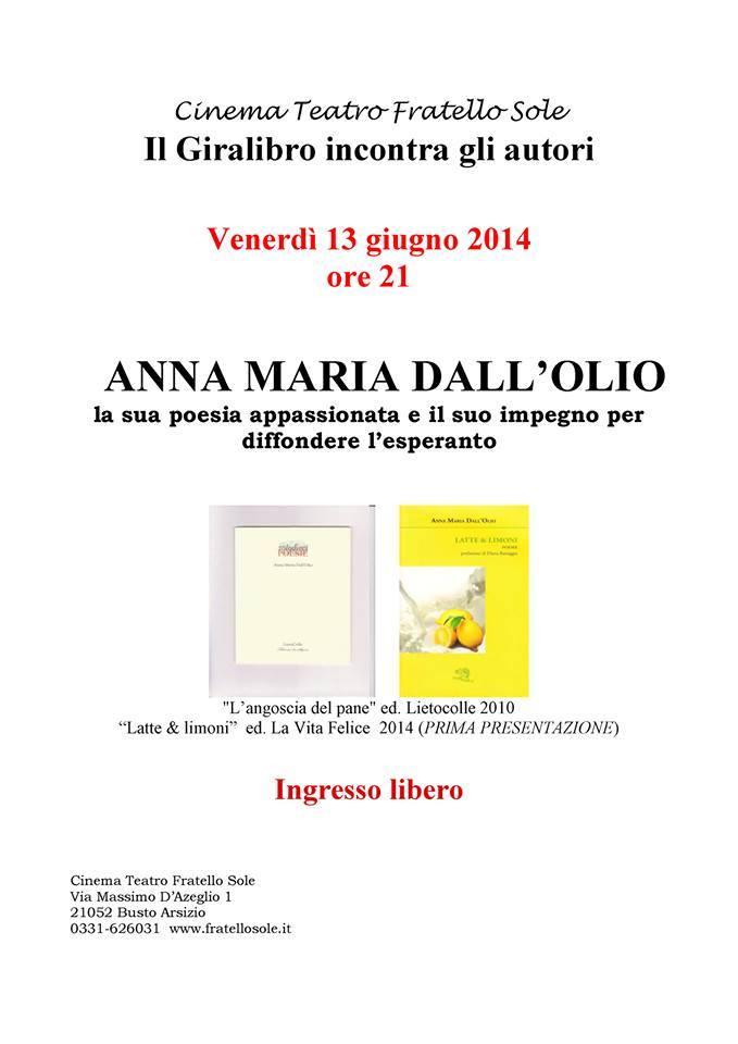 Uscito Latte&Limoni (ed. La Vita Felice) di Anna Maria Dall'Olio.