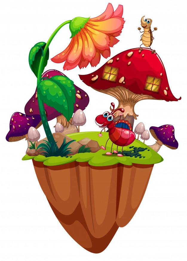 La casa in un fungo