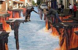 Street Paint, 3D Street Art: illusioni ottiche