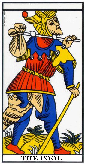 I tarocchi: Il Matto, rappresentazione