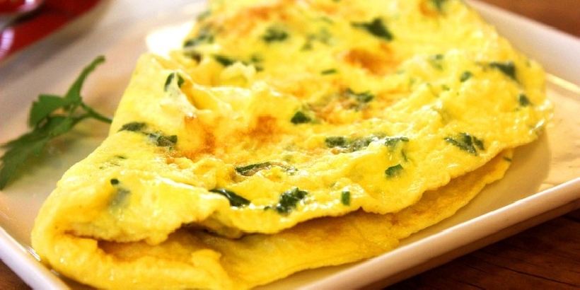 Omelette di verdure per perdere peso
