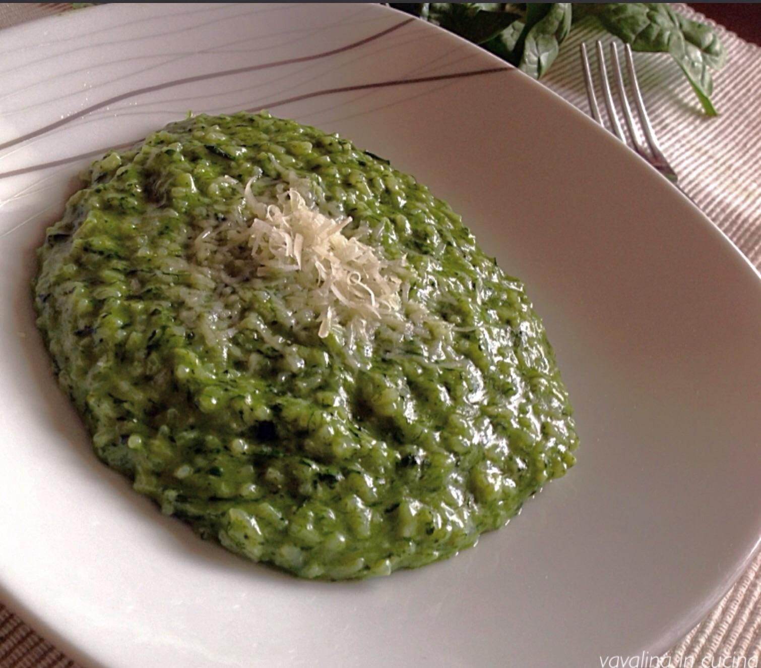 Il risotto agli spinaci