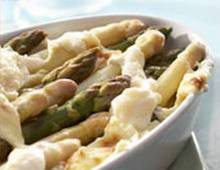 Clafoutis di asparagi al parmigiano