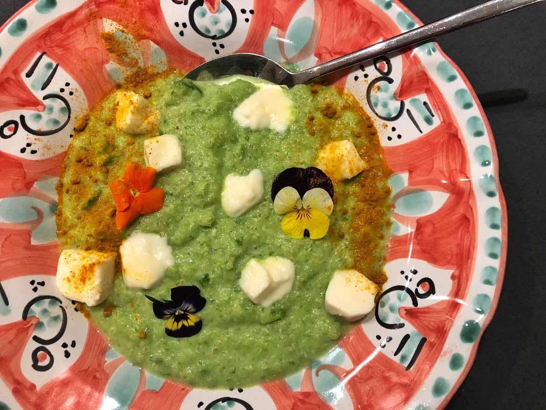 Stracchino e spinaci