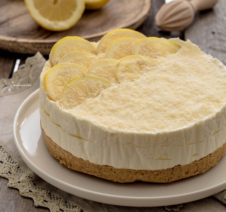 Torta al limone con biscotti Oro Saiwa