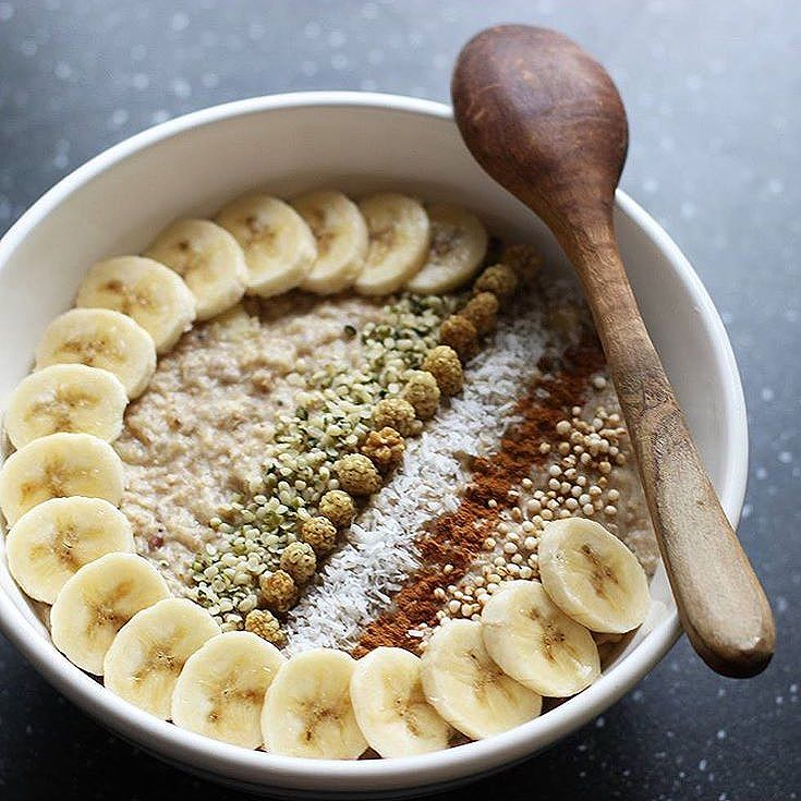 Porridge alla banana e cannella