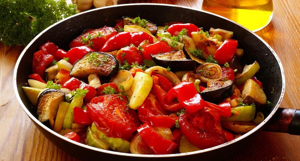 Mix di verdure in padella