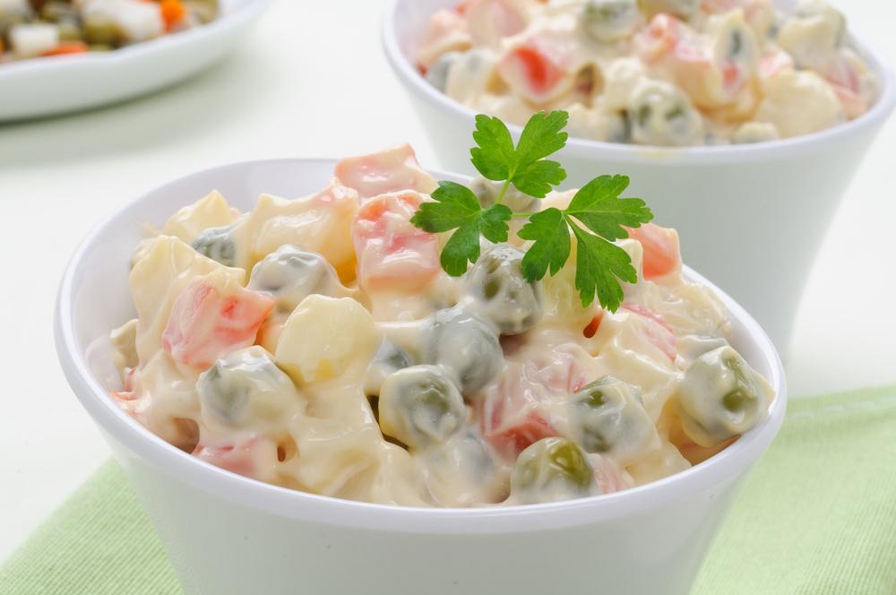 Conservare l'insalata russa