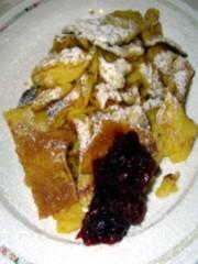 Kaiserschmarren – Frittata dolce ai mirtilli