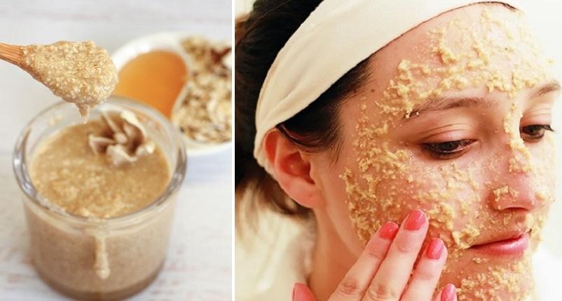 Maschera rassodante con farina d'avena