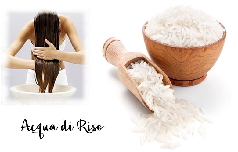 Maschera  di riso per capelli