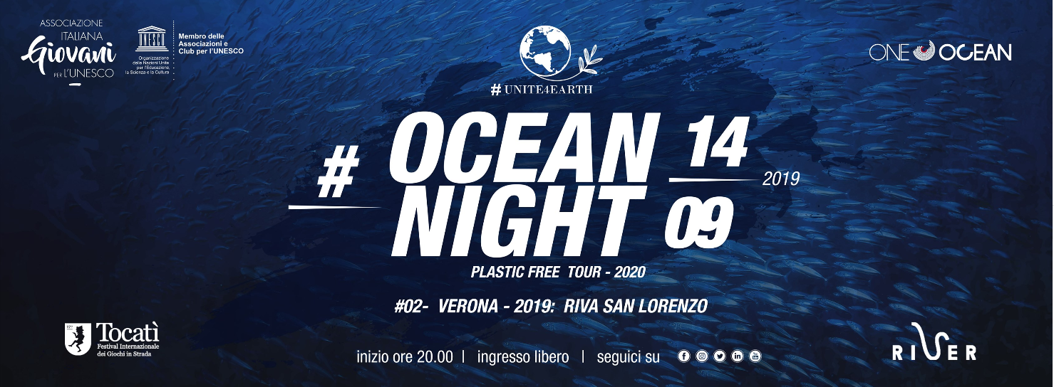 Ocean Night, Tour italiano plastic free UNESCO