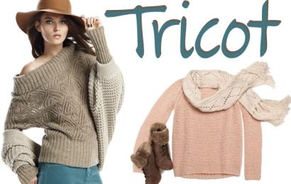 Lana tricot tra maglioni, cappelli, sciarpe e borsette