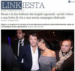 Matteo Renzi e le tette, della fan