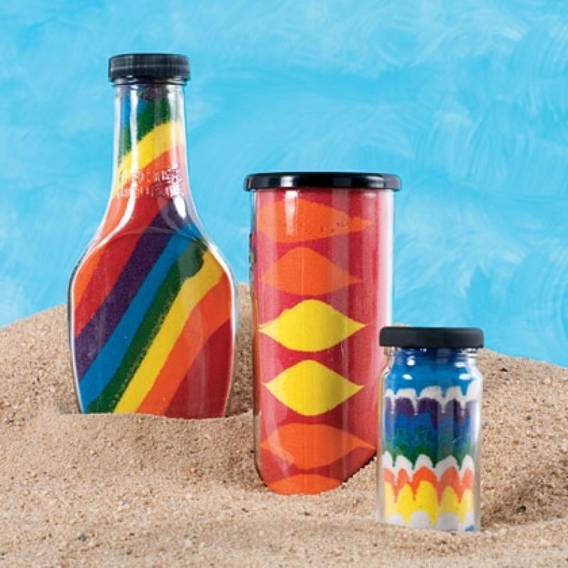 Il barattolo realizzasogni di sabbia colorata