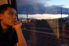 In treno..