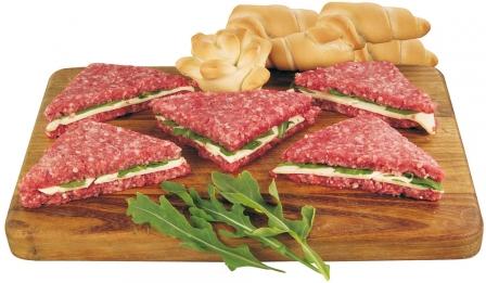 I tramezzini di carne con spinaci